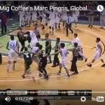 PBA Brawl: Marc Pingris vs Kelly Nabong