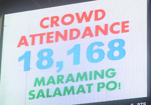 Crowd Attendance for PBA Finals Game 4