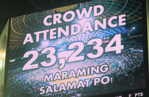 PBA Finals Game 5 Crowd Attendance