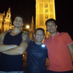 Marc Pingris, James Yap and Coach Ryan Gregorio reunion in Spain