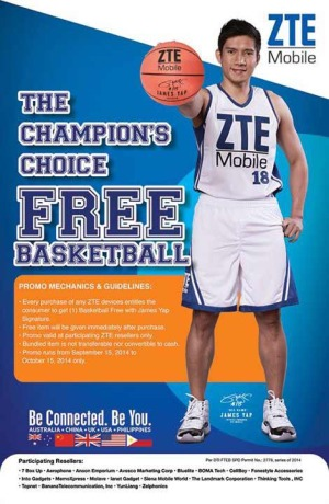 ZTE Mobile Free Basketball Promo