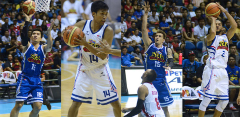 Purefoods players in the 2015 PBA All-Star Game