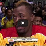 Marqus Blakely Interview after GlobalPort game Video