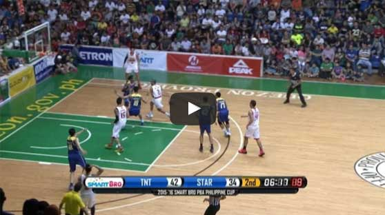 Justin Melton behind-the-back pass to Marc Pingris Video ...