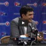 Jason Webb Presscon Interview after TNT win