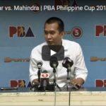 Chito Victolero Presscon – Star Hotshots vs Mahindra